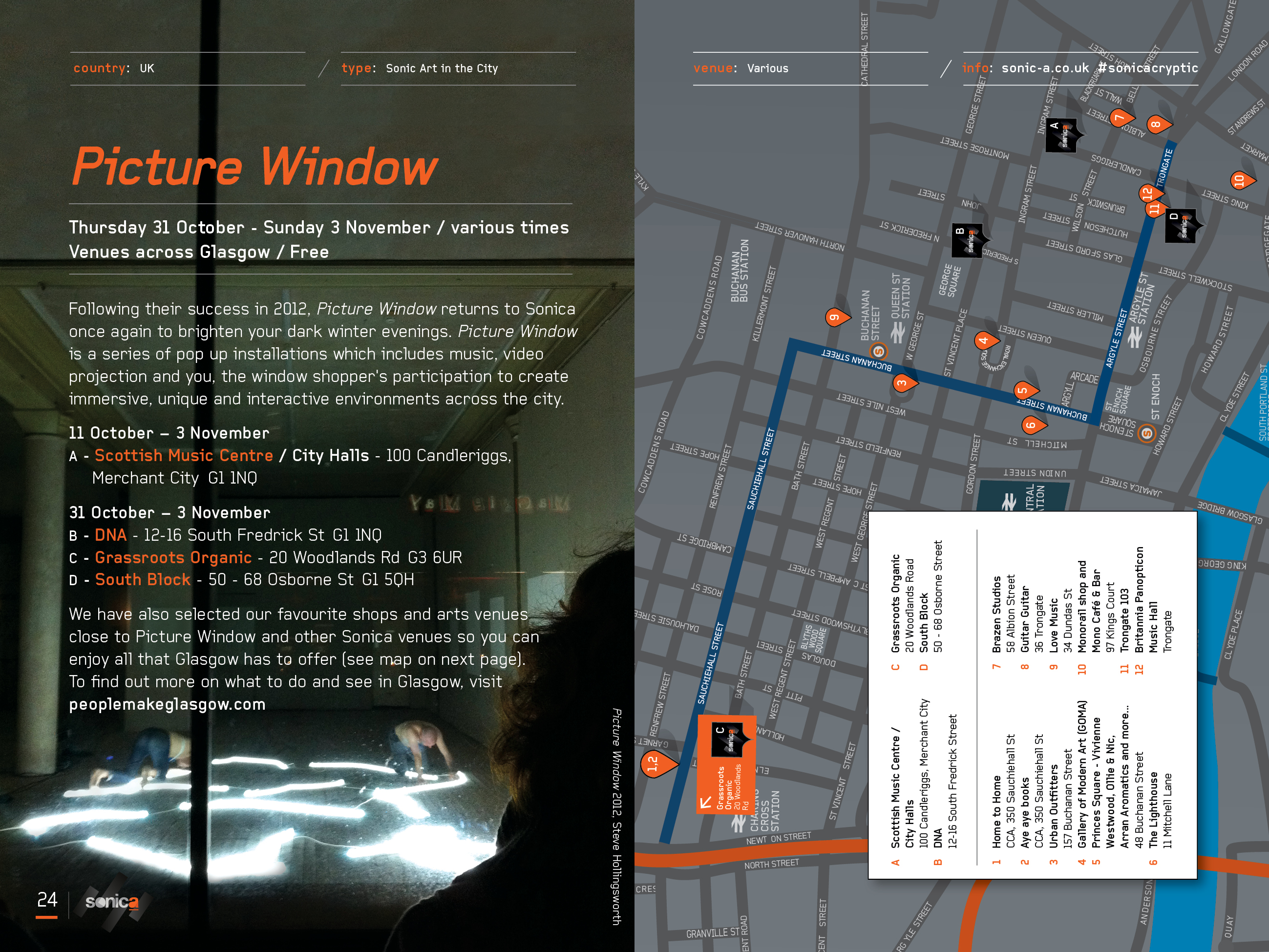Sonica 2013 Picture Window Map